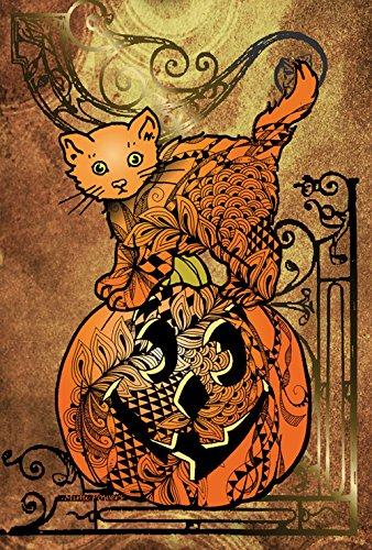 Toland Home Garden Tangle Cat And Pumpkin 28 x 40 Inch De...
