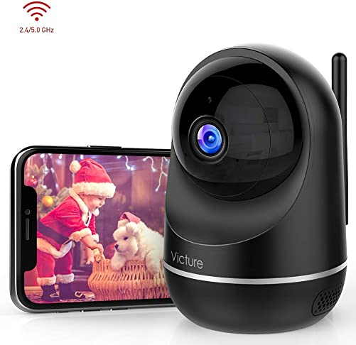 Victure Dual-Band 2.4Ghz 5Ghz 1080P Pet Camera with Motion Detection, Wireless WiFi Camera Baby Monitor with 2-Way Audio Night Vision, Cloud Service Available