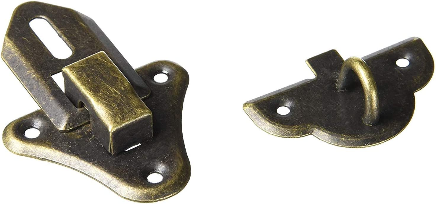A15123000ux0608 Coffre /à coque en bois de style antique Box Fermoir Moraillon Loquet