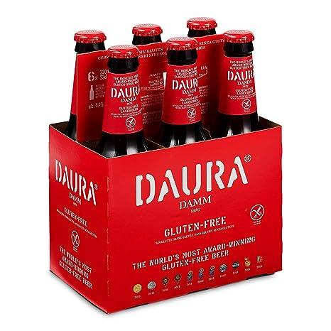 Daura Damm Cerveza Sin Gluten - Pack de 6 Botellas x 330 ml ...