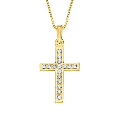 Halsketten Anhänger Weiß Gold 333 Kinder Taufe Kommunion