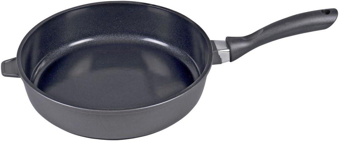 Karl Kruger Potsdam Aluguss Series - Sartén honda con revestimiento de cerámica, color negro, metal, negro, 28 cm: Amazon.es: Hogar