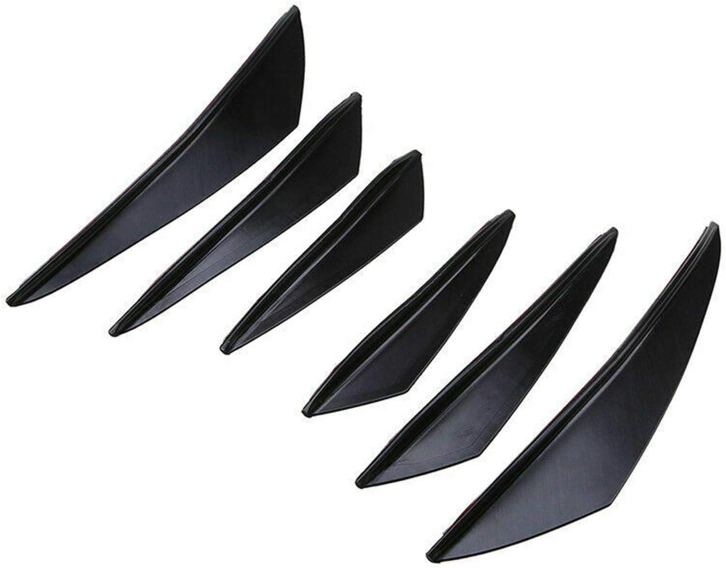 Areyourshop 6 pz universale in fibra di carbonio PP auto paraurti anteriore alettoni canards refit