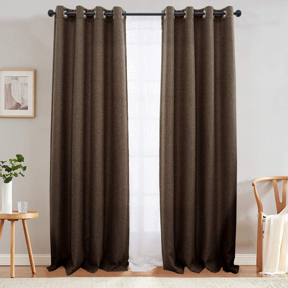 Long Wide curtain panel Extra Long Linen Curtains,Window Drapes drapery Linen Curtain Brown Curtains Chocolate Curtains for living room