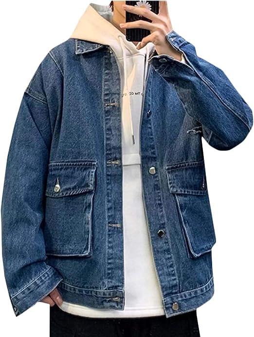 [MLboss]デニムジャケット メンズ ゆったり ジージャン カジュアル ダメージ加工 Gジャン ビックシルエット 春 秋 ジャケット デニム ファッション ジャンパー オシャレ 韓国 ジャケット