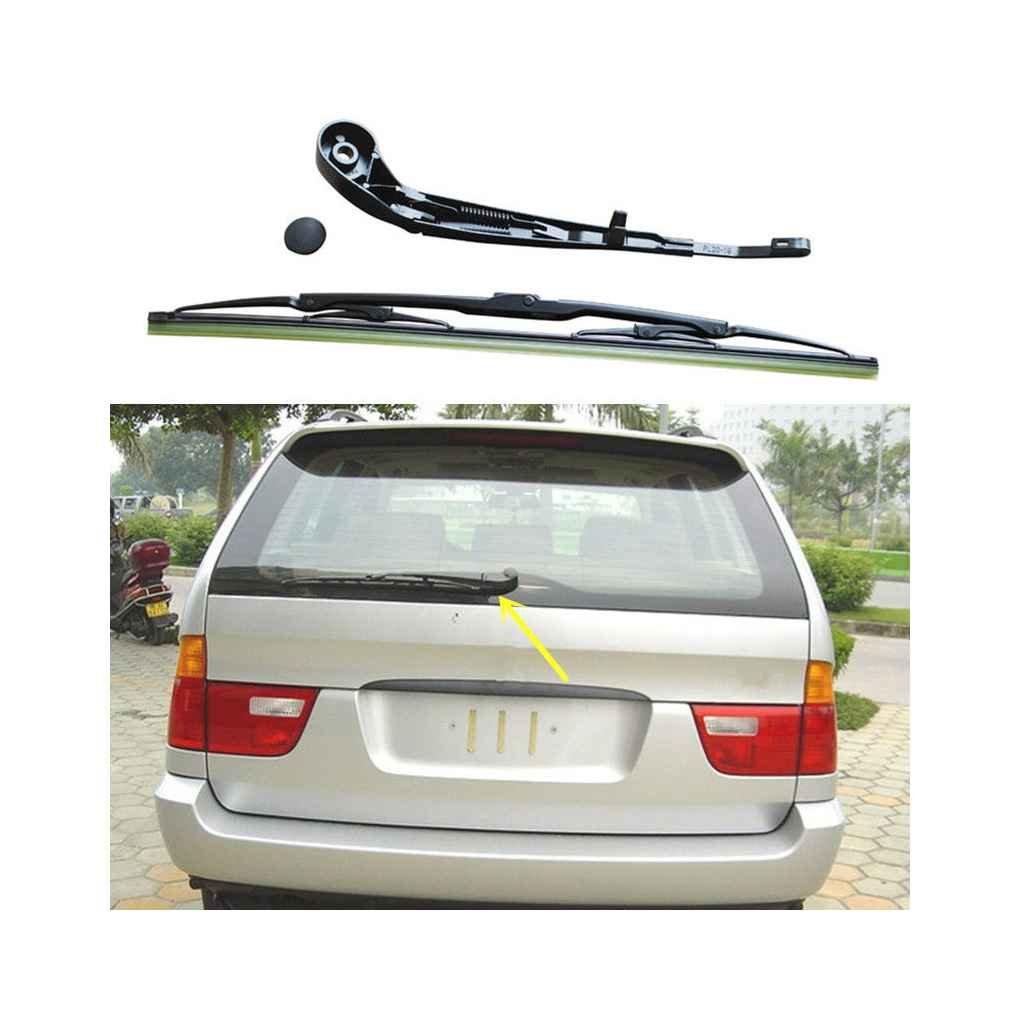 qotone coche hoja de limpiaparabrisas trasero conjunto completo 61627068076 trasera parabrisas limpiaparabrisas para BMW X5 E53 99 - 06: Amazon.es: Coche y ...