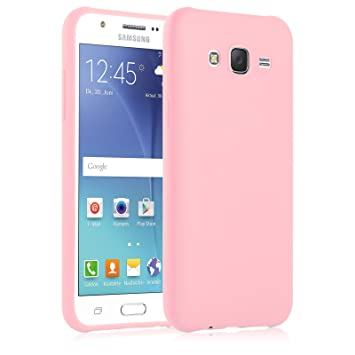 [ Samsung Galaxy J5 ] - Carcasa JAMMYLIZARD Ultra Fina Goma De Silicona Jelly Back Cover, ROSA MELOCOTÓN
