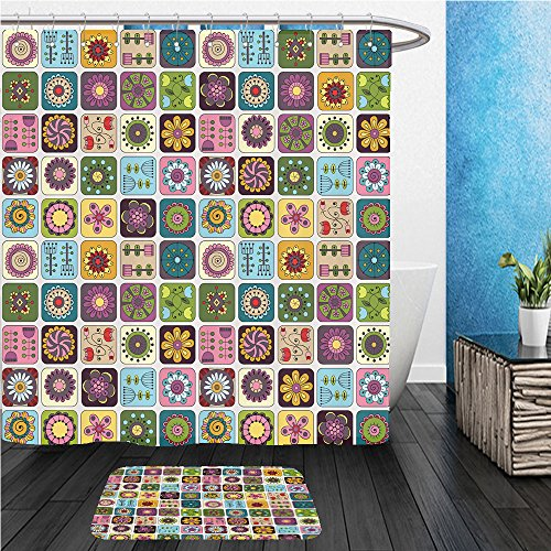 Beshowereb Bath Suit: ShowerCurtian & Doormat geometric pattern template frame design for card with set of doodle rectangles 218138506 Funky Rectangle Frame