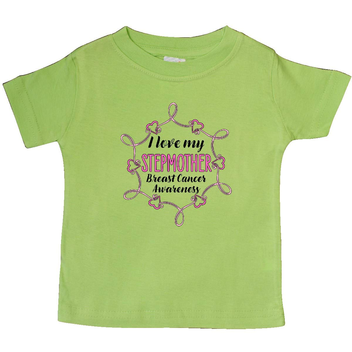 inktastic I Love My Stepmother Breast Cancer Awareness Baby T-Shirt