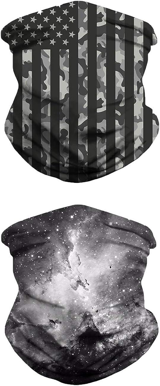 Neck Gaiter Bandana Face Mask Non Slip Ultra Breathable Balaclava for Wind Sun UV and Dust Protection Cool Head Wrap