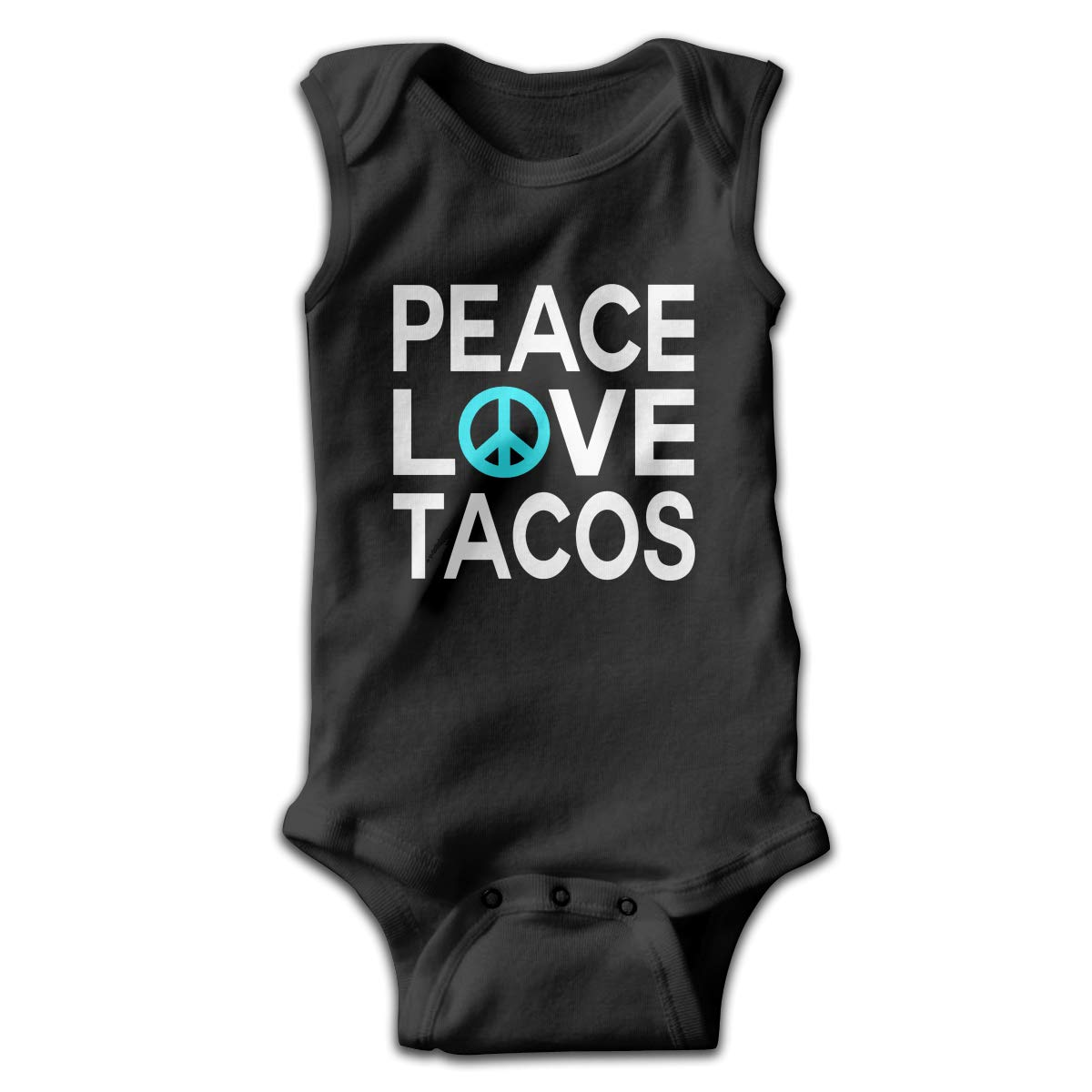Toddler Baby Boys Rompers Sleeveless Cotton Jumpsuit,Peace Love Tacos Outfit Spring Pajamas