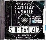 COMPLETE & UNABRIDGED 1934 1935 1936 LaSALLE REPAIR SHOP & SERVICE MANUAL CD Covers V-8, V-12, V-16 ENGINES