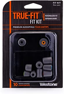 product image for Westone True-Fit Foam Replacement Eartips - 5 Pair Pack, Fit Kit with Multiple Sizes