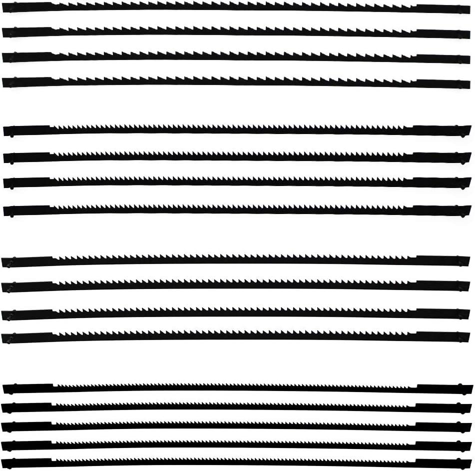 16 Hojas de Sierra de Marqueter/ía 10//15//18//24 Dientes Cuchilla de Sierra de Mesa para Serrar Madera Pl/ástico Espuma Metal Blando 132 mm