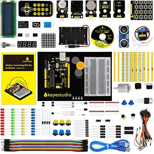 - KEYESTUDIO Uno Starter Kit for Arduino, STEM Educational Gifts for Boys and Girls