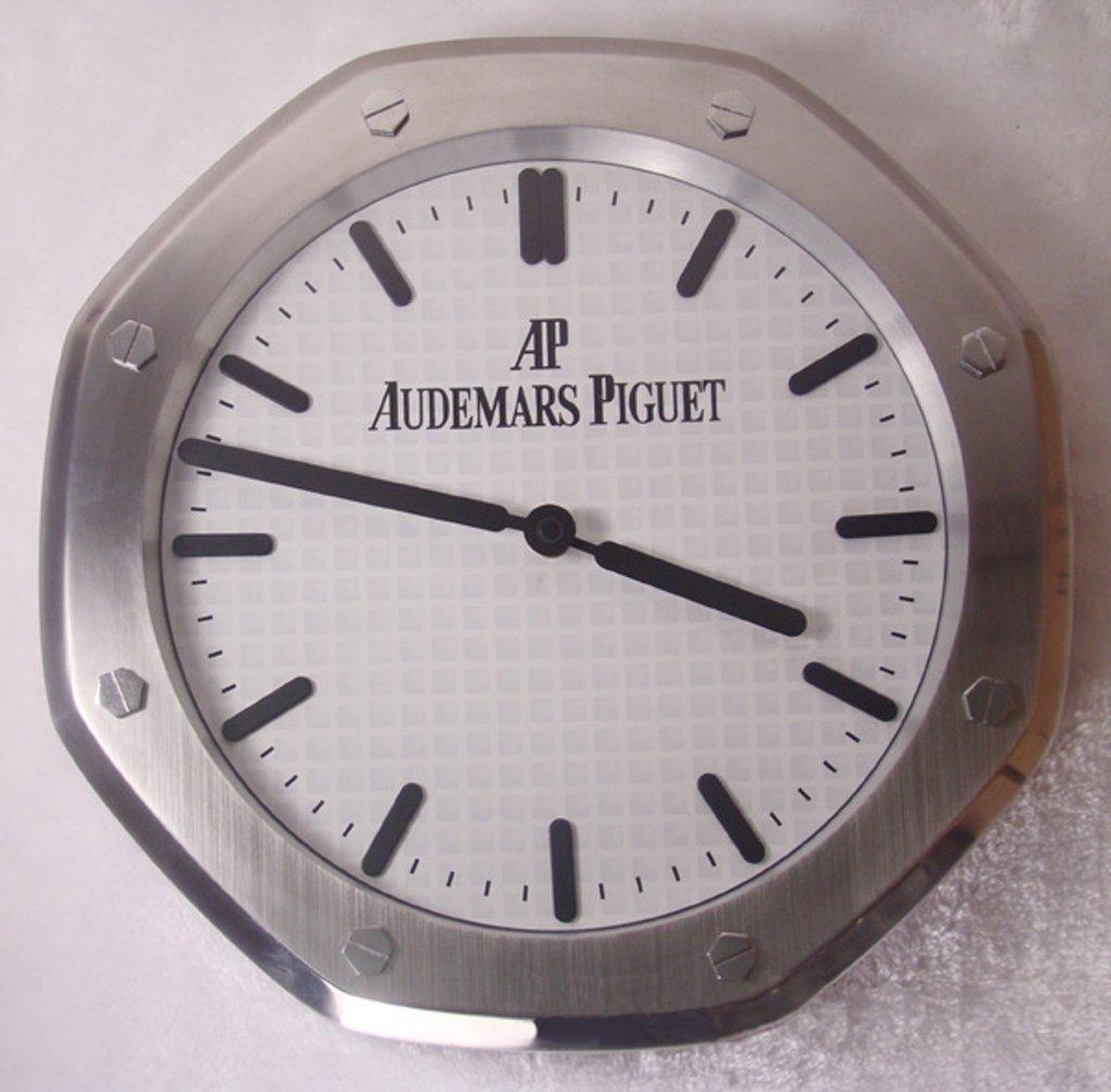 Amazon Audemars Piguet Silent Sweep Wall Clock Silverwhite