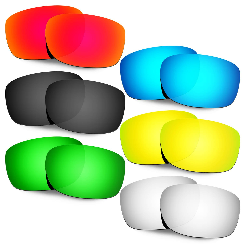 Hkuco 交換用レンズ Oakley Straightlink Sunglasses  Red/Blue/Black/24K Gold/Titanium/Emerald Green B077DD65PC