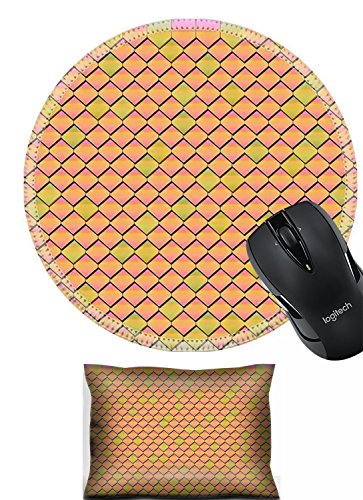 Liili Mouse Wrist Rest and Round Mouse Wrist Set, 2pc Wrist Support design 24598894 woman with red bikini snorkeling in sea bubbles the foreground ()