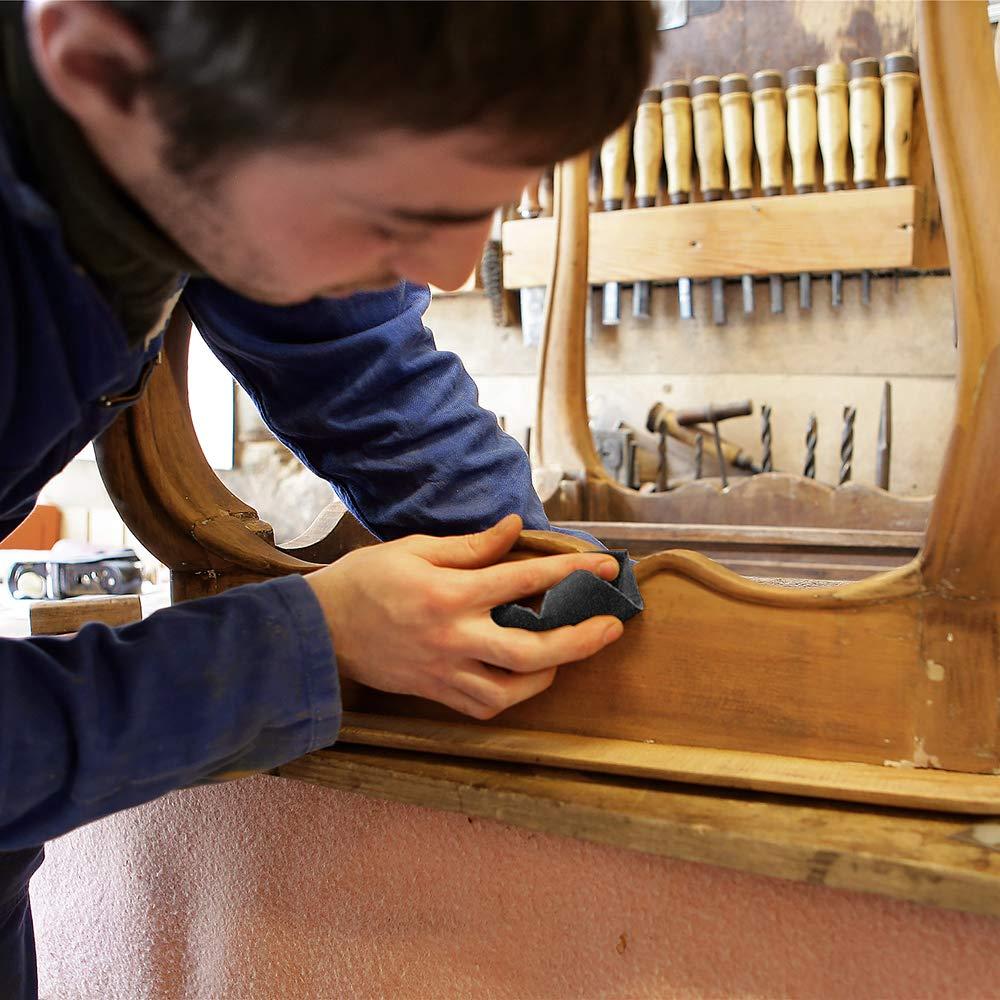 metallo auto Set di carta vetrata professionale 52 pezzi vetro per hobby grana umida e asciutta 23 x 9,5 cm verniciatura pietra Vegena 120-3000 assortimento per mobili in legno