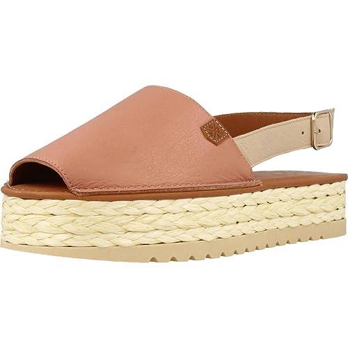 Alpargatas para Mujer, Color Hueso, Marca MENORQUINAS POPA, Modelo Alpargatas para Mujer MENORQUINAS POPA FUSTE Hueso: Amazon.es: Zapatos y complementos