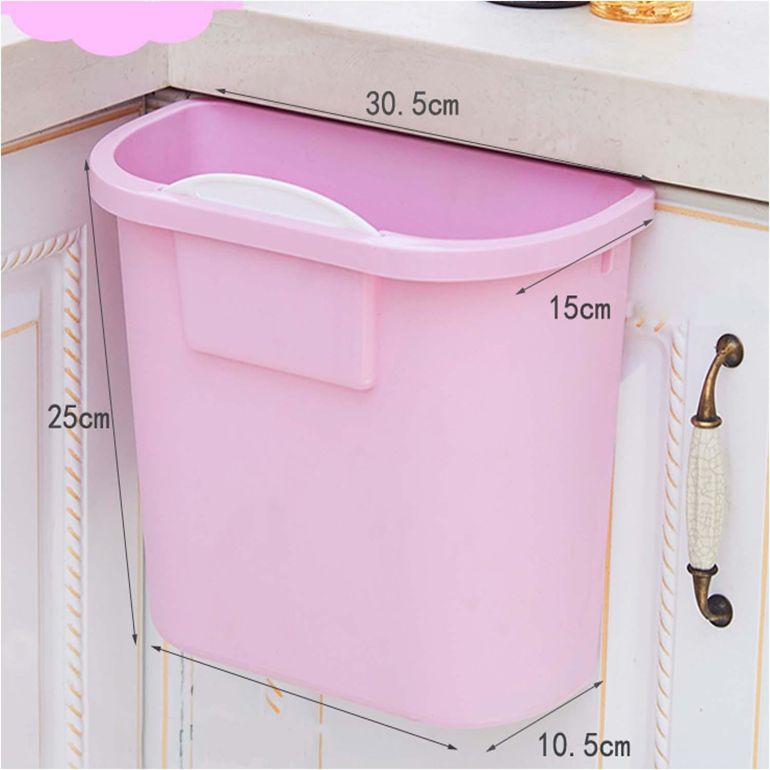 OOFYHOME Home wall-mounted trash cans, with no cover thick plastic cabinet large storage barrels, the kitchen can be linked to trash , A