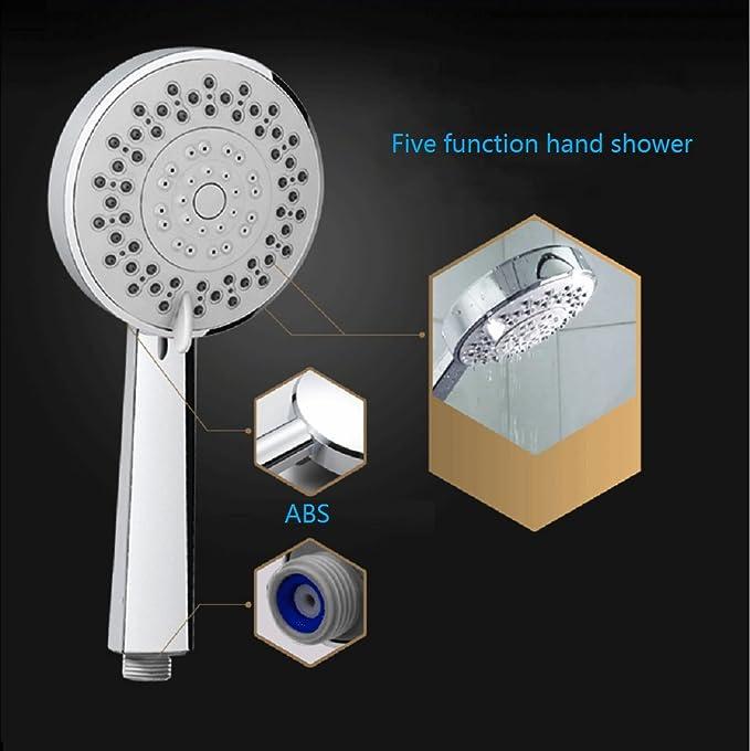 Amazon.com: Cabezal de ducha de cinco funciones 5-Cabeza ajustable ...