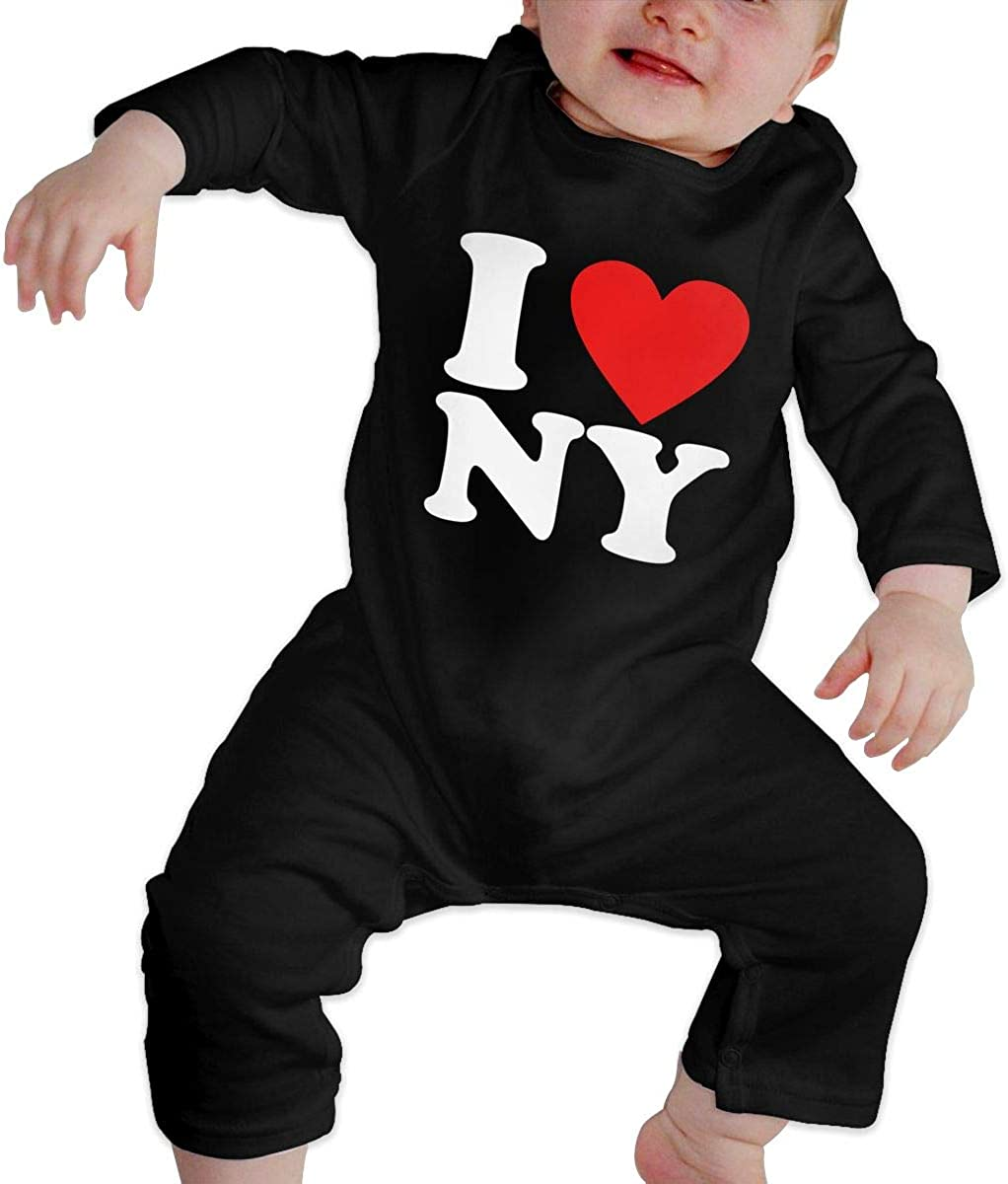 Unisex Baby Romper Jumpsuit I Love NY New York Organic One-Piece Bodysuits Coverall Outfits