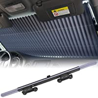 car sunshades for Windshield, Retractable car Sun Shade, Sunshade to Keep Your Vehicle Cool and Damage Free, UV Sun and…