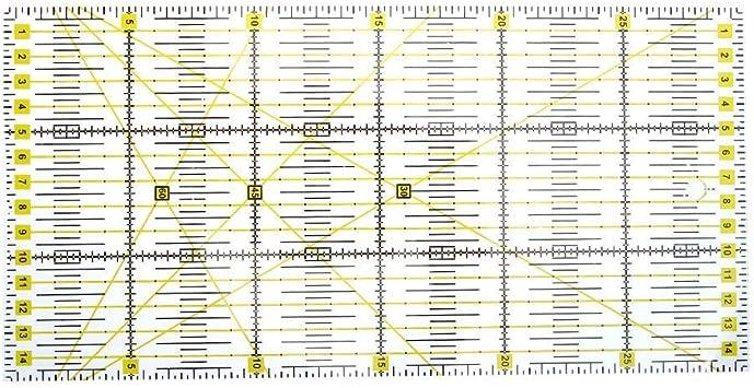 f/ür Rollenschneider DIY N/äharbeiten mit Lineal aus transparentem Acryl 15 x 15 cm Demiawaking Universal-Lineal f/ür Patchwork-Rolle