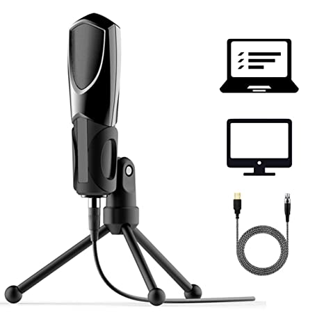 ERAY USB Microphone Condenser Recording Microphone for PC Laptop Home  Studio Recording Vocals, Voice Overs, Streaming Broadcast and YouTube Videos