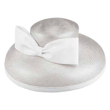 f1653723 Whiteley Hats Anastasia Straw Wedding Hat - Silver 1-Size: Amazon.co.uk:  Clothing