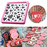 [ 1 Heart Cookie Stencil + Cookie Decorating