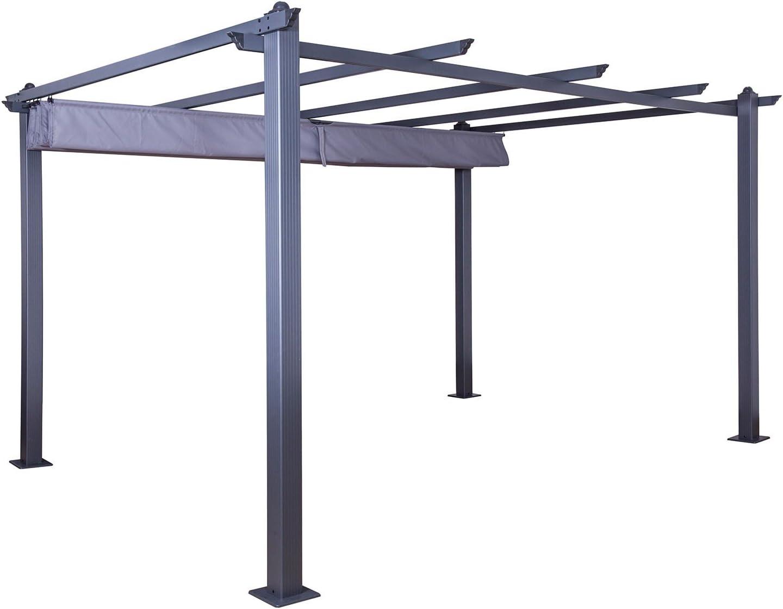 IMS GARDEN Carpa/Pergola Aluminio 3 X 4 M Lienzo Deslizante ...