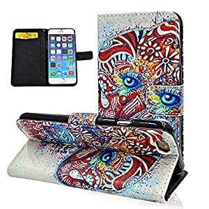 Seedan Elephant Flip Leather Wallet Case for iPhone 6 (4.7 inch) Card Holder Design Folio Stand Pouch Cover Cases