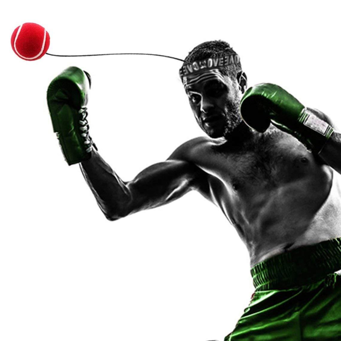 Zinniaya Eubi E301 Equipo de Pelotas de Boxeo con Banda para la Cabeza para Entrenamiento de Velocidad de Reflejos Boxeo Punch Accesorios para Ejercicios Deportivos tailandeses