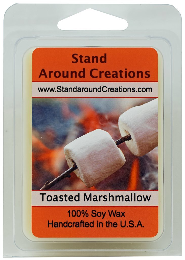 100 % All Natural大豆ワックスMelt Tart – Toasted Marshmallow : A fragrance so true toその名前。Imagine a marshmallow on a Stick、少しだけToasted by the Fire。 – 3oz – Naturally強力な香りつき B00NS7UAIO