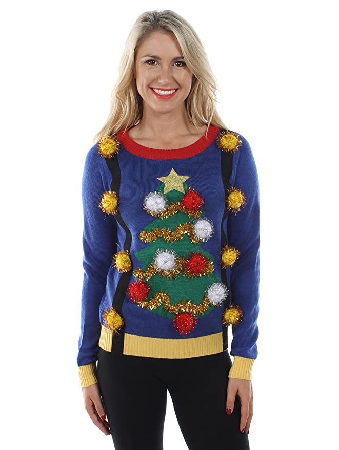 Tacky Christmas Sweater Pom Poms