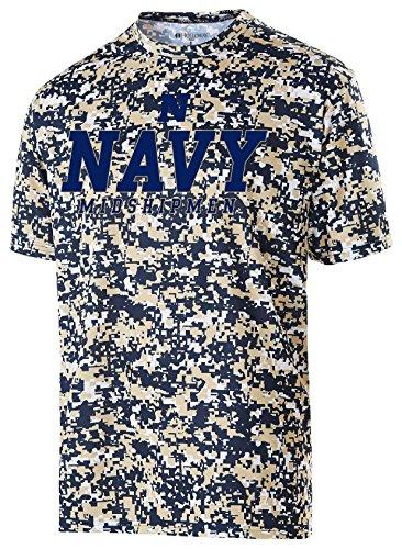 Ncaa Navy Midshipmen Youth Erupt 2 0 Short Sleeve Tee  Large  Navy Vegas Gold White
