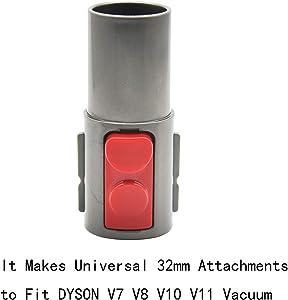 EZ SPARES Replacement Adapter for DYS V7 V8 V10 V11,Make 32mm 1.25'' Universal Vacuum Attachment to fit DYS V7 V8 V10 V11 Vacuum Accessory Tool Hose