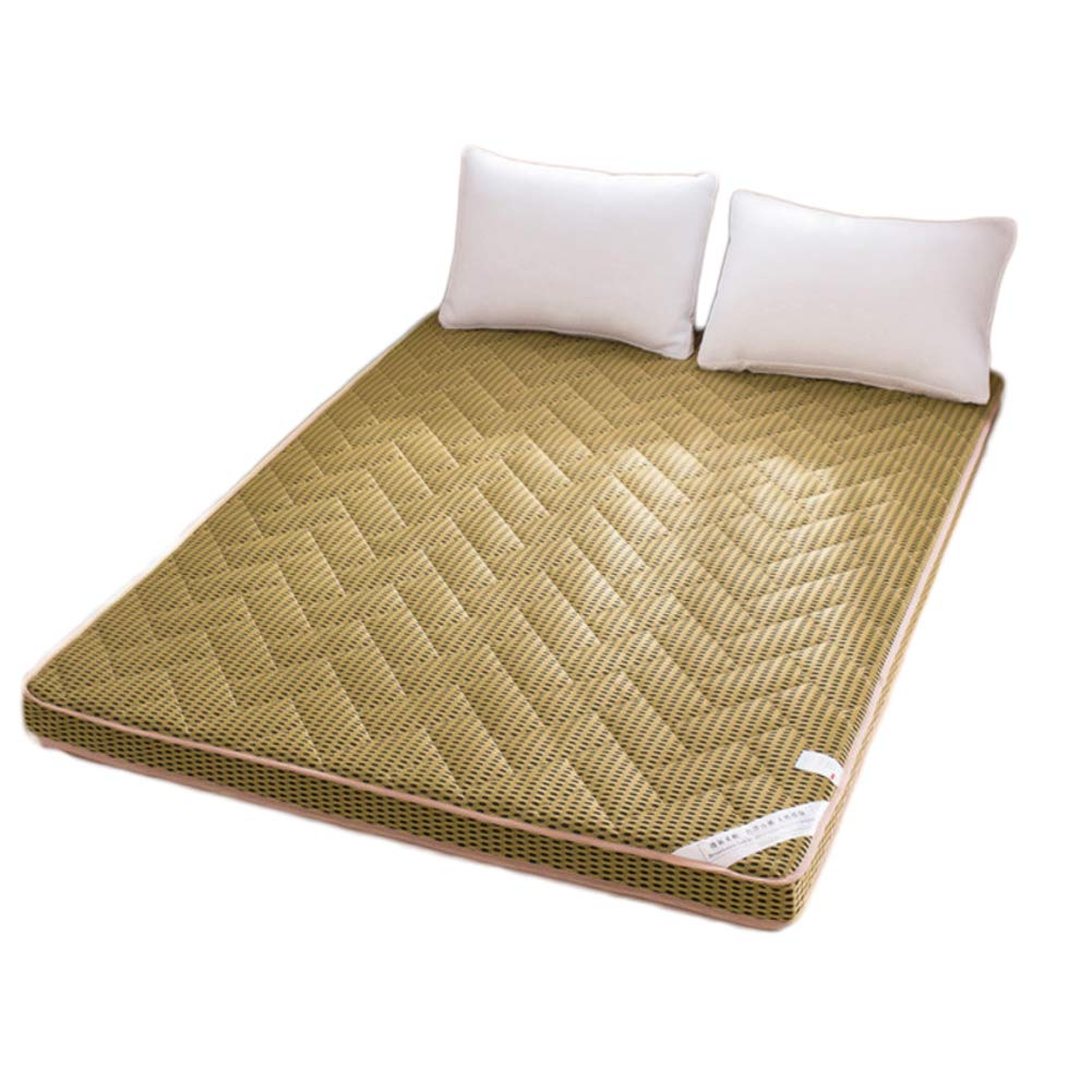 F 100x200cm H 6cm Breathable Mesh Fabric Mattress, Foam Mattress Quilted Design Thick Anti-mite Ergonomic-E 120x200cm H 6cm