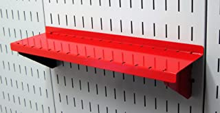 product image for Wall Control Pegboard Shelf 4in Deep Pegboard Shelf Assembly for Wall Control Pegboard and Slotted Tool Board – Red