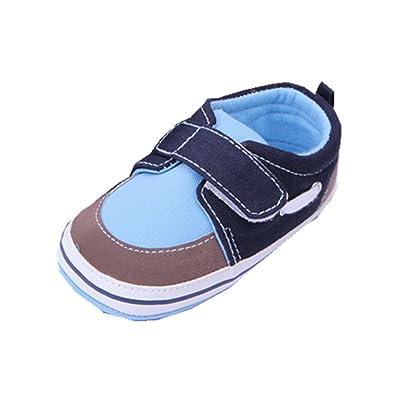 13a7c921f1ba YICHUN Bébé Garçons Chaussures de Premier Pas Simple Chaussures de Loisir  Chaussures Souples (Longueur d