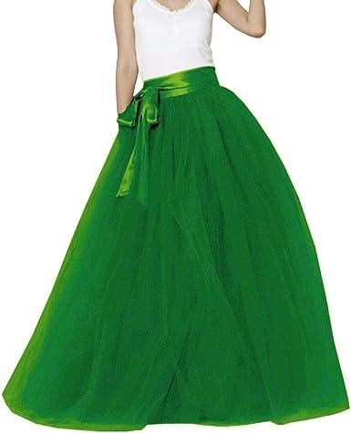 Wedding Lady - Falda de tul larga con fajín para mujer, falda de ...