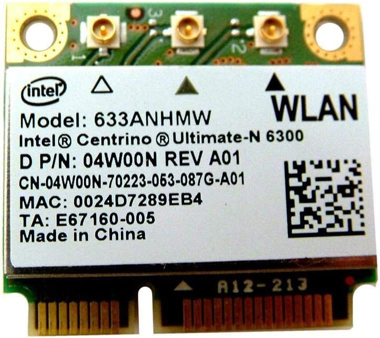 Dell Latitude E6520 Intel Ultimate-N 6300 Wireless WLAN Mini Wifi Card - 4W00N