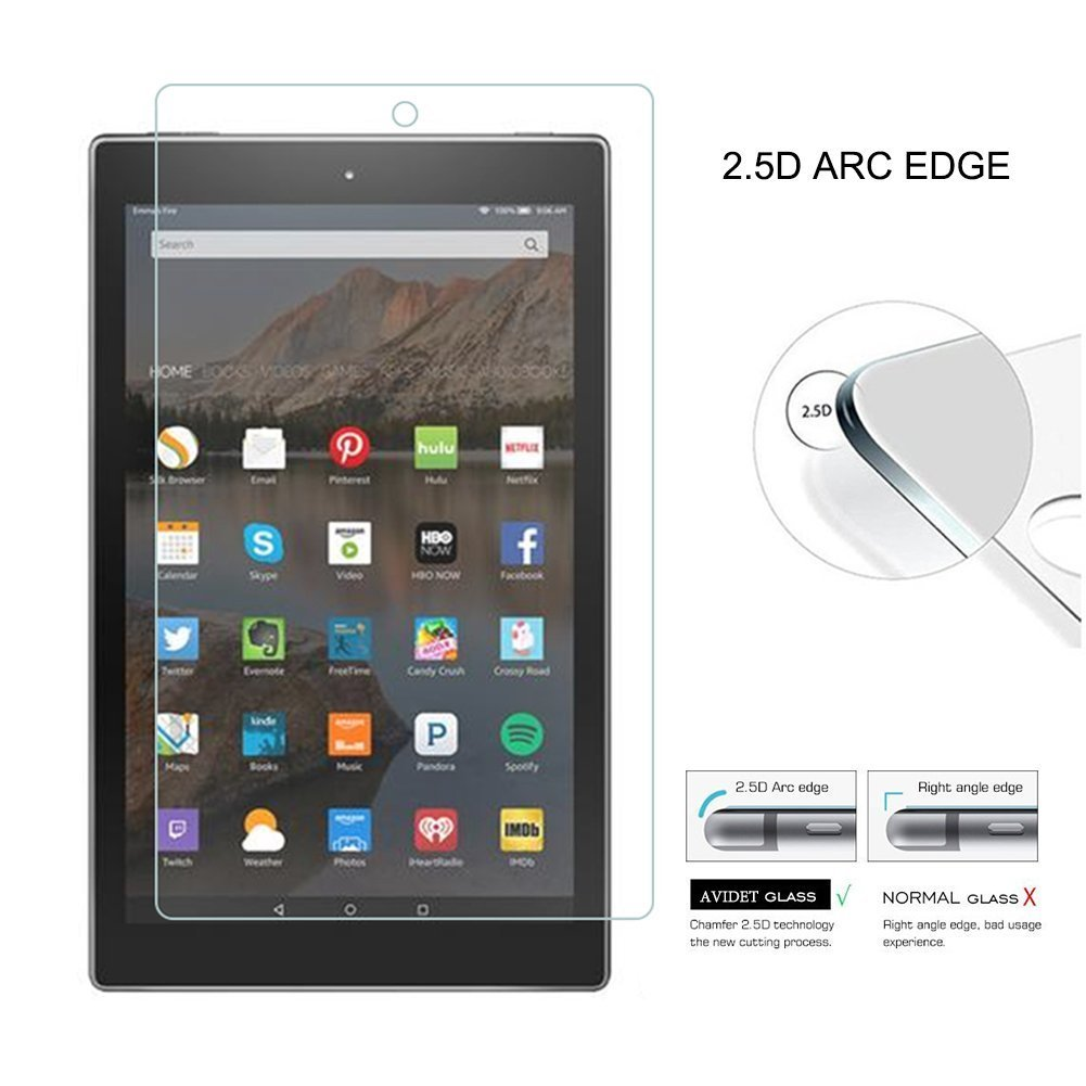 2017 For Amazon Kindle Fire HD 10 Tablet Tempered Glass Screen Protector Cover
