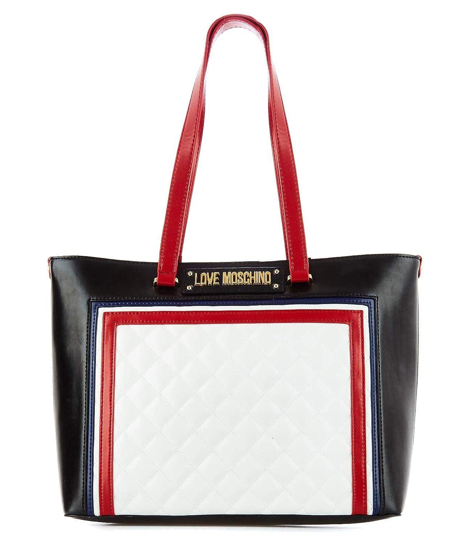 Love Moschino レディース JC4013PP17LB110A ブラック 革 買物袋 B07NJS24TK  UNI JP - Brand Size UNI