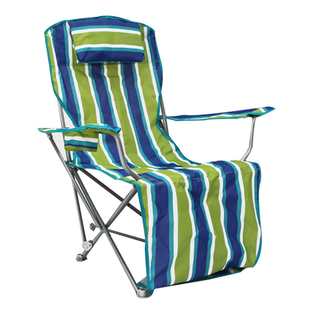 Camping Recliner Reclining Garden Chair Adjustable Sunbed Sun Loungers Zero Gravity Chairs Foldable with Headrest for Outdoor Fishing Sitting and Lying Dual Use