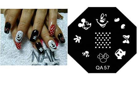 Amazon.com: Nail Art - Nail art lovely Mouse Cartoon stamping plates manicure cute love cartoon stamp plate decore nails: Beauty