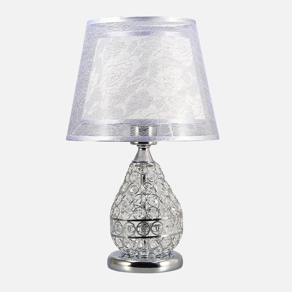 Dawn Lighting Elegant and Luxurious Crystal Desk Lamp Bedroom Bedside Eye Care Simple and Modern Furniture Creative Table Lamp , white