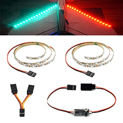 Remote Controlled LED Light Strip for RC Fixed Wing Airplane Flying Wing Plane AR Wing Drone Model Car Truck: Toys & Games